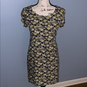 FOREVER 21 floral dress small purple & yellow